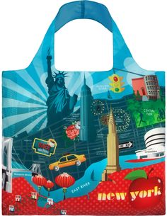 Loqi Water Resistant Reusable Bag #URBAN #NewYork - only $9.99 | Unique Gifts & Home Decor | Karma Kiss
