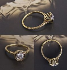 Art Nouveau .63ct Diamond Solitaire $2,850.00