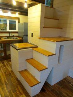 Robin's Nest ttiny house -custom stairs