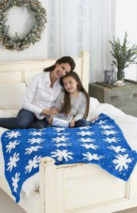 A great fireplace crocheted afghan pattern: Suzy Snowflake's Favorite Afghan