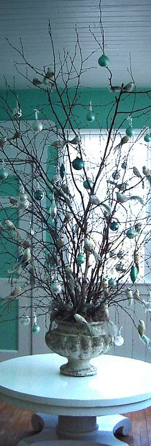 urn branches for holiday decor