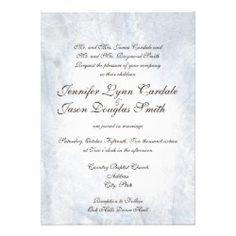 Winter Snow Camo Elegant Wedding Invitations
