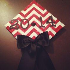 My chevron mortar board for university of Nebraska Lincoln's graduation