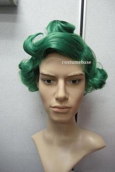Oompa Loompa Green Wig Willy Wonka Chocolate Costume | eBay