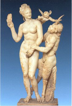 Aphrodite with Cupid and Pan