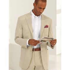 Amazon.com: Paul Fredrick Gingham Seersucker Soft Suit: $299