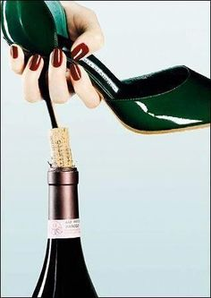 There is always more than one way to open a bottle of wine....