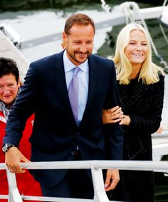 anythingandeverythingroyals:  Crown Prince Haakon and Crown Princess Mette-Marit, September 9, 2014