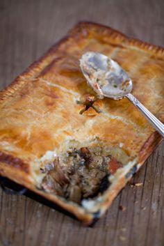 Roast Chicken, Bacon & Tarragon Cream Pie-the perfect winter warmer recipe.
