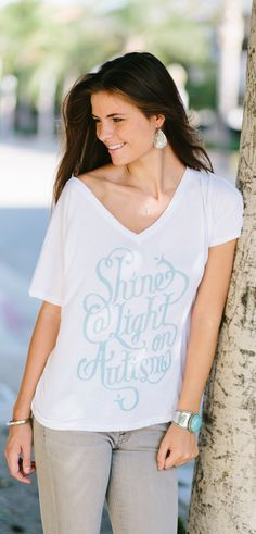 Shine a light on #autism! Every t-shirt sold donates to support children and adults with autism by providing communication tools. #Sevenly