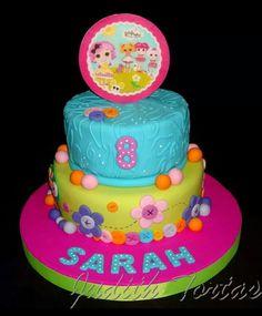 "Torta decorada con fondant ""Lalaloopsy"""