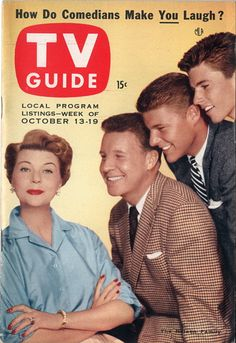 "Harriet, Ozzie, David, Ricky Nelson of ""The Adventures of Ozzie and Harriet""  October 13-19 1956"