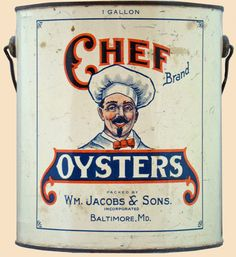 Chef Brand Oyster Tin - Baltimore, MD
