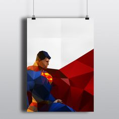 Superman A2 poster for sale: This would make a fabulous quilt!