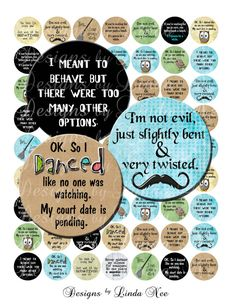 Instant Download - NEW- Full of SASSY (1 inch round) Bottlecap Quotes Images  Sale - Digital Collage Sheet printable stickers magnet button