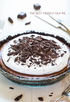 The Best French Silk Pie from @averie