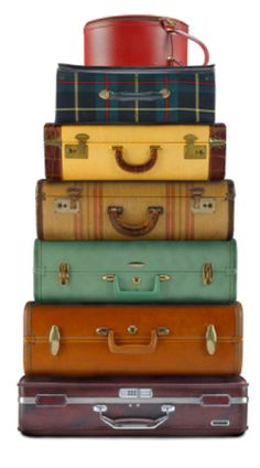 Colorful suitcase stack