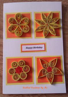 Birthday card - by: Tatiana Gajdosova Quilled Creations