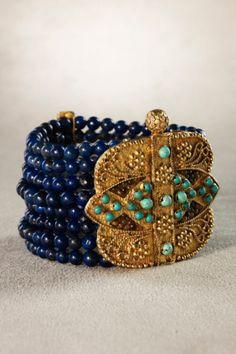 Byzantia Bracelet - Beaded Bracelet, Turquoise |