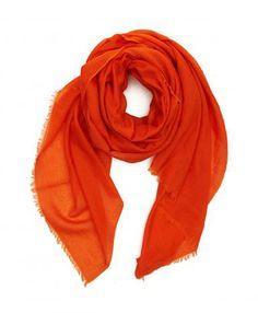 Orange Lightweight Cashmere Scarf