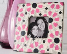 cute frame. another mod podge craft
