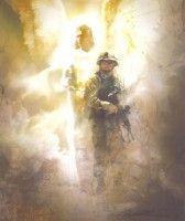 God has Your Back by Hahlbohm. New image of angel of God with a soldier, guarding, protecting.