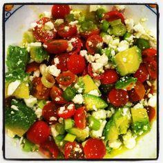 mint, tomato salad, quinoa salad