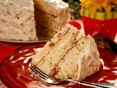 Italian Cream Cake Using Box Cake Mix | mrfood.com