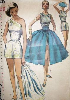 One shoulder split skirt playsuit