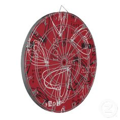 Cool gift for teens - #Red Black & White #Love #Hearts #Dartboard by #ShaleceElynne $66.35 www.zazzle.com/shaleceelynne*    #cool #teen #gifts #trendy #games