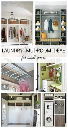 Laundry and Mudroom Ideas for small spaces via design dining + diapers #DIY #home #homemakeovers #laundry #mudroom