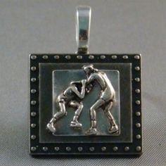 Wrestling pendant, wrestling jewelry for those wrestling moms!