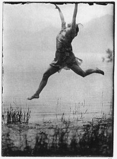 Mary Wigman at the Lake Maggiore, summer of 1914.