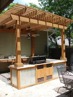 Great idea for outdoor kitchen