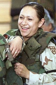PFC Lori Piestewa.  Piestewa was the first Native American woman in history to die in combat while serving with the U.S. military and the first woman in the U.S. armed forces killed in the 2003 invasion of Iraq.  Arizona's Piestewa Peak is named in her honor.