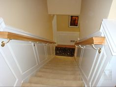 Raised Panel Wainscoting in stairway