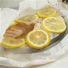 """Parchment Baked Salmon 