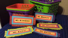 Fiesta Teacher Wish List Baskets