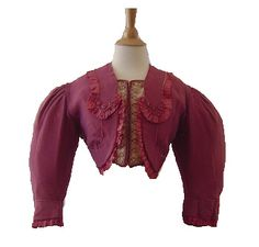 Pink Jacket with Velvet Covered Buttons, 19th century beauti dressescloth, jacket pin, bustl period, pink jacket, women cloth, jackets, 1870s women, histor cloth, 1860s women