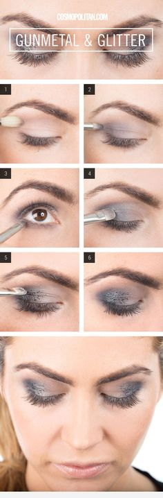 my latest #makeup look for our #beauty #howto #diy #tutorial series. this time - #gunmetal #glitter #eyeshadow. #Cosmopolitan x #DIVAlicious #blog.