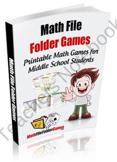 MathFileFolderGames: 42 Printable Math Games for Middle School Students from MathFileFolderGames.com on TeachersNotebook.com (46 pages)  - 42 Middle School Math Games that are specifically designed for students in the 5th-8th grade!!! Covering such topics as Shapes and Space Games, Number Operations Games, Number Concepts Games, Patterns and Relations Games, Shape and Space Games, Statistics