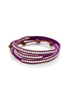 Chan Luu Multicolor Thread & Crystal Wrap Bracelet