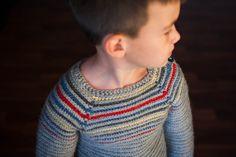 Striped Pullover Crochet Pattern No. 4 by BallHanknSkein