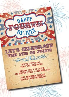 Fourth of July Party Invite