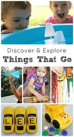 Things That Go...fun activities for kids to play and learn about cars, planes, trains, boats and more