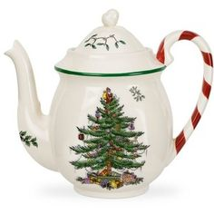 Spode Dinnerware, Christmas Tree Peppermint Teapot