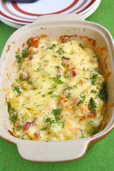 Картофи с бекон и топено сирене