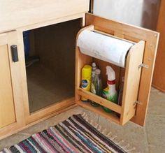 Kitchen Cabinet Door Organizer Paper Towel Holder