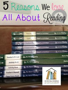 5 Reasons We Love All About Reading :: Come see 5 reasons we love using All About Reading in our homeschool! :: SoYouCallYourselfaHomeschooler.com