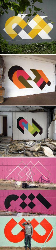 Graffiti moderno do artista CT